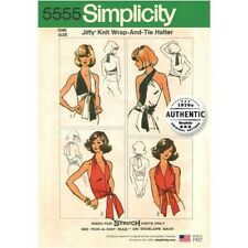 Simplicity Sewing Pattern 5555 Misses' Vintage Jiffy Knit Wrap and Tie Top