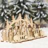 Marry Christmas Wooden Santa Snowman Xmas Tree Ornaments Craft Home Table Decor