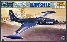 "Kitty Hawk Models 1/48 McDonnell F2H-2/F2H-2P  ""Banshee"""