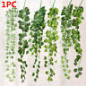Real Touch Wall Hanging Garland Plants Fake Foliage Artificial Ivy Leaves Vine