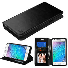 BLACK WALLET LEATHER COVER CASE + GLASS SCREEN FOR SAMSUNG Galaxy Halo ( I8520 )