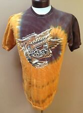 Disney MGM Rock n Roller Coaster Starring Aerosmith T Shirt Tie Dyed Brown sz M