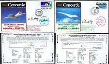 21.8.85 TWO BA CONCORDE FT SEO IAN KIRBY SIGNED COVERS_LONDON -HOUSTON- LONDON_R