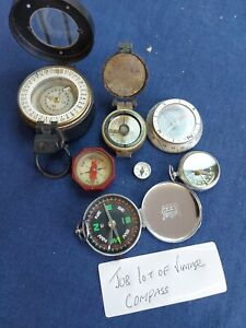 Job lot of vintage and modern compass