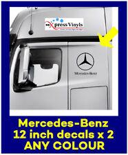Mercedes benz logo decals x 2. truck stickers van graphics ANY COLOUR