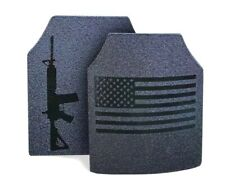 Body Armor AR500 American Flag Pair of 10x12 Plates! In stock immediate Shipping