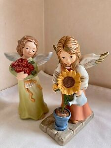 Vintage Goebel Angel Figurines , 2 Figurines 6 inches Height