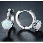 Fire Opal Gemstone 925 Sterling Silver Stud Drop Dangle Earrings Wedding Jewelry
