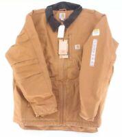 Carhartt Mens Brown Full Swing Pearl Weave Heavy Grade Lined Work Wear Jacket XL