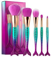 Tarte Minutes To Mermaid Brush Set Powder Cheek Eyeshadow Pencil Brush $42 NIB