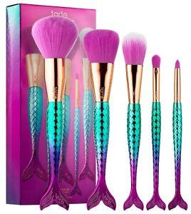 Tarte Minutes To Mermaid Brush Set Powder Cheek Eyeshadow Pencil Brush $42 NIB