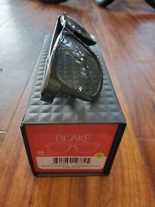 100% Blake Cycling Sunglasses - Polished Black, Grey PEAKPOLAR Lens