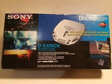 New! SONY Discman ESP2 Portable CD Player w/ CAR KIT - D-E406CK NEW In Box!