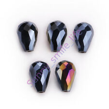 10Ps Charm 5500# Crystal Glass Spacer Teardrop Beads DIY Jewelry Makings 10x15mm