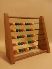 Mid century beech wood playschool abacus vintage nursery decorative