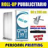 ESPOSITORE ROLL UP BANNER 80X200 COMPRESO di STAMPA PVC BORSA E MONTAGGIO ROLLUP