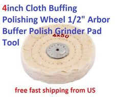 "4inch Cloth Buffing Polishing Wheel 1/2"" Arbor Buffer Polish Grinder Pad Tool"