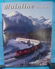 HO, S, O SCALE MAINLINE MODELER MAGAZINE JANUARY 1993 TABLE OF CONTENTS PICTURED