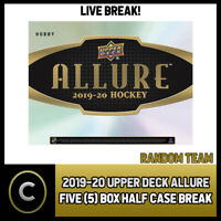 2019-20 UPPER DECK ALLURE HOCKEY 5 BOX (HALF CASE) BREAK #H587 - RANDOM TEAMS