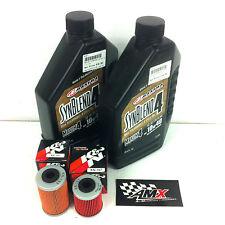 Maxima Synblend4 oil & 2 x K&N filter service kit KTM 525SX 2003