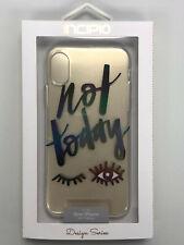 "Incipio Designer Silicon Case for Apple iPhone X ""Not Today"""
