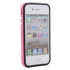 IPhone 4G 4S dur Silicone Pare-chocs Garniture Pare-chocs frame rose cas pour iPhone 4 4S