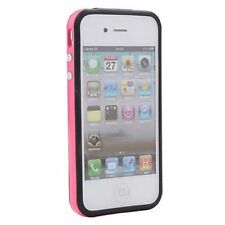 iPHONE 4G 4S HARD SILICONE BUMPERS TRIM CASE PINK Bumper Frame for iPhone 4 4S