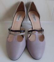 LK BENNETT Purple Grey Black Strappy T.Bar Court Shoes Size UK 8 EU 41 US 10.5