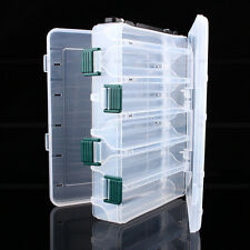 Plastic Double Sided 12 Compartment Fishing Lures Tackle Hooks Baits Storage Box
