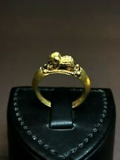 Antique 6th Century AD Byzantine Elephant Solid 21k Gold Ring Amulet Fortune