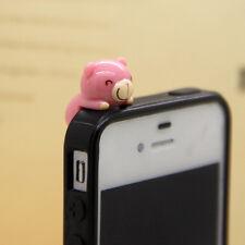 New 3.5m Cute Purple Smiling Tedy Bear Anti-Dust Proof phone plug Charm