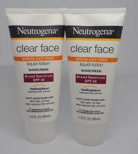 Neutrogena Clear Face Sunscreen SPF 30 3oz 2 Pack