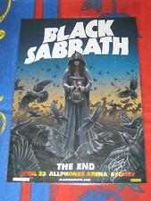 BLACK SABBATH - Australia Tour 2016 SYDNEY SIGNED AUTOGRAPHED - Laminated Poster