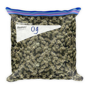 Og Kush Weed Throw Pillow