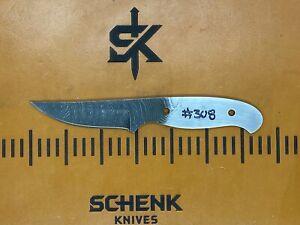 Bull Trout Twist Damascus High Carbon Steel Knife Blade Blank Billet 308