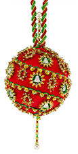 The Cracker Box  Inc Christmas Ornament Kit Christmas Bells on Red