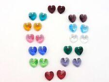 SWAROVSKI® Crystal Heart Pendants, 24 10mm Crystal Hearts,12 Birthstone Colors