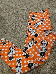 LuLaRoe Leggings Tall and Curvy NWT orange background with minnie mouse pattern