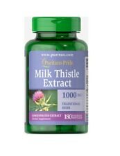 Puritan's Pride Milk Thistle 4:1 Extract (Silymarin) 1000mg 180 Softgels Liver