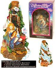 "2002 Aroma Magic HandCrafted/ HandPainted 10"" Ceramic Fairy Incense Burner - NiB"