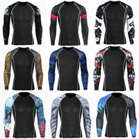 Men's Compression Armour Base Layer Top Long Sleeve T-shirt Gym Sport Top Shirt