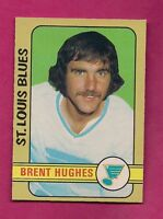 1972-73 OPC # 234 BLUES BRENT HUGHES  HIGH # NRMT-MT CARD (INV# 7585)