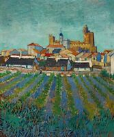 Vincent van Gogh View of Saintes-Maries Fine Art Giclee Print on Canvas Small