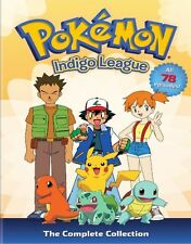 POKEMON INDIGO LEAGUE COMPLETE COLLECTION SERIES New Sealed 9 DVD 78 Episodes