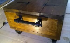 The Industrial Breton a Rustic/Traditional Chest and coffee table