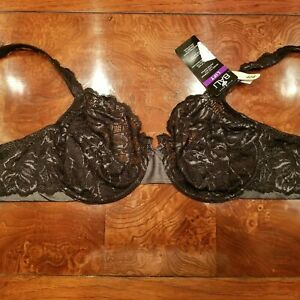 NWT Bali Lift Lace Desire Seamed & Unlined DF6543 Underwire Bra in Black  40 B