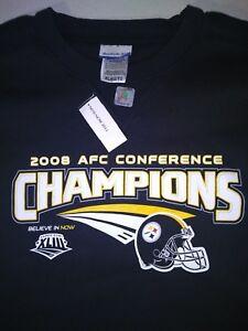 Reebok Pittsburgh Steelers 2008 AFC Conference Champion Sweatshirt - XL - NWT