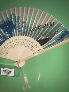 Vintage Hokusai Japanese Hand Fan, Vintage Placido De Bellas Artes.