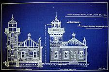 "LIGHTHOUSE Mukilteo Point  Washington Blueprint Plan 14"" x 21"" (227)"