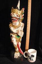 "Guardian Keris Holder Hanuman Traditional Balinese Wood Carving 21""- 53 cm Tall"